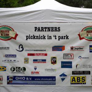 Alle partners die Picknick in 't Park hebben gesteund in 2018