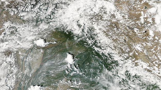 NASA MODIS image on Northern Pakistan from 9 August 2010