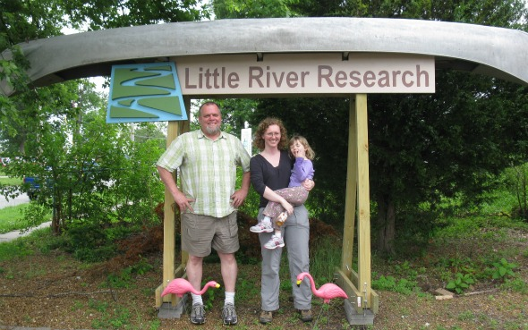 Steve Gough, Anne Jefferson and a research assistant in front of LRRD, May 2011