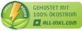 gehostet mit 100% Ökostrom von all-inkl.com