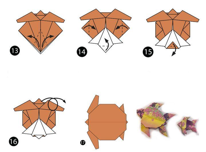 Оригамидегі теңіз тасбақасы