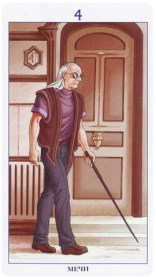 таро 78 дверей четверка мечей