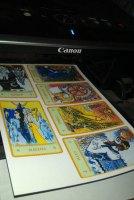 Распечатанные на принтере карты таро