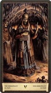 5 Верховный Жрец Таро Черный Гримуар