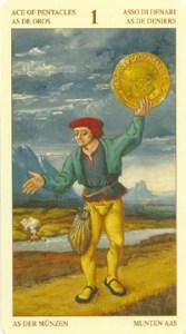 Таро Брейгеля Туз Монет (пентаклей)