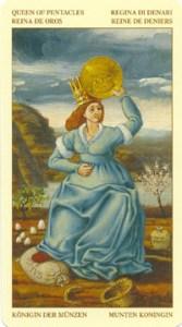 Таро Брейгеля Королева Монет (пентаклей)