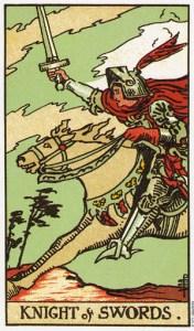 Трактовка карты Таро Рыцарь Мечей