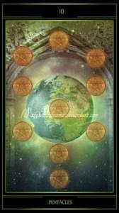 Таро Телема карта 10 Пентаклей