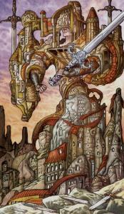 Таро Царство Фэнтези изображение 5 Мечей