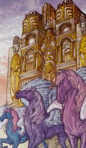 Таро Царство Фэнтези Изображение с карты Колесница