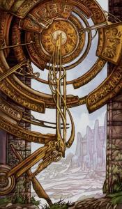 Таро Царство Фэнтези Изображение с карты Колесо Фортуны