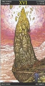 Таро Царство Фэнтези аркан 16 Башня
