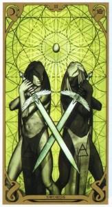 2 мечей Таро Ночного Солнца