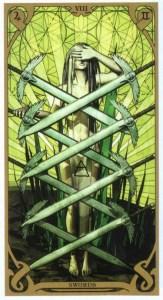 8 мечей Таро Ночного Солнца