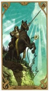 Рыцарь мечей Таро Ночного Солнца