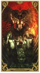 Аркан Дьявол из Таро Ночного Солнца