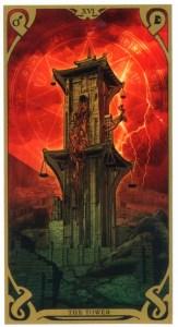 Аркан Башня из Таро Ночного Солнца