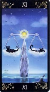 11 Справедливость Таро Черных Котов