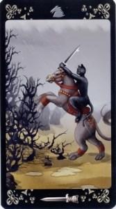 Рыцарь Мечей Таро Черных Котов