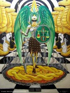 Аркан 11 Справедливост The Golden Serpent Tarot