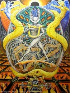 Аркан 14 Умеренность The Golden Serpent Tarot