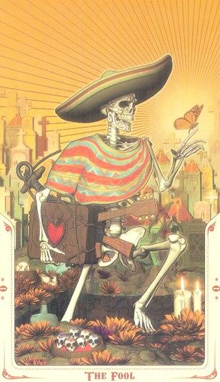 0 Шут (The Fool) Таро святой смерти (Santa Muerte Tarot)