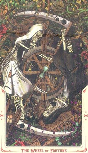 10 Колесо Фортуны (Wheel off Fortune) Таро святой смерти (Santa Muerte Tarot)