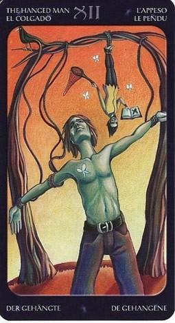 12 Повешенный (The Hanged Man) Таро Семи Звезд (Mystical Manga Tarot)
