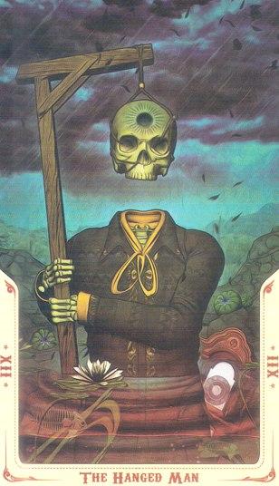 12 Повешенный (The Hanged Man) Таро святой смерти (Santa Muerte Tarot)
