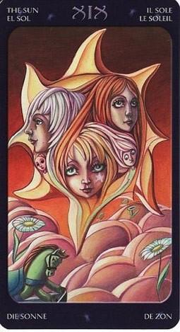 19 Солнце (The Sun) Таро Семи Звезд (Mystical Manga Tarot)