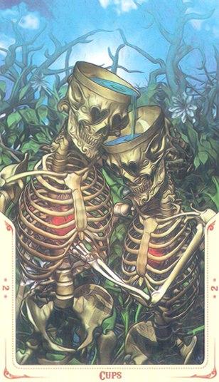 2 Кубков Таро святой смерти (Santa Muerte Tarot)