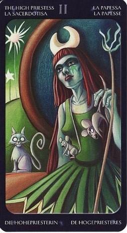 2 Жрица (The High Priestess) Таро Семи Звезд (Mystical Manga Tarot)