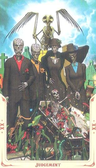 20 Суд (Judgement) Таро святой смерти (Santa Muerte Tarot)