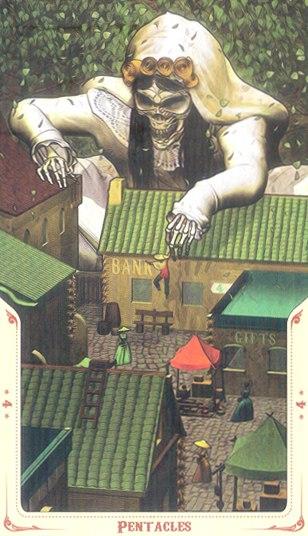 4 Монет Таро святой смерти (Santa Muerte Tarot)