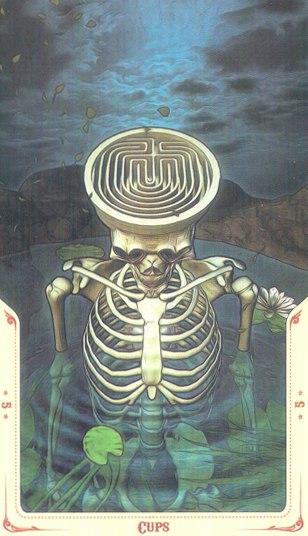 5 Кубков Таро святой смерти (Santa Muerte Tarot)