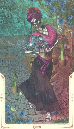 6 Кубков Таро святой смерти (Santa Muerte Tarot)