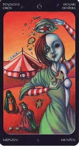 6 Монет Таро Сладкие Сумерки (Tarot of the Sweet Twilight)