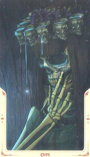 8 Кубков Таро святой смерти (Santa Muerte Tarot)
