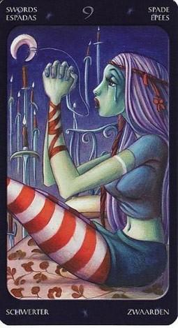9 Мечей Таро Сладкие Сумерки (Tarot of the Sweet Twilight)