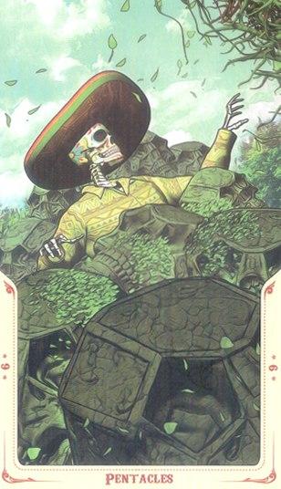 9 Монет Таро святой смерти (Santa Muerte Tarot)