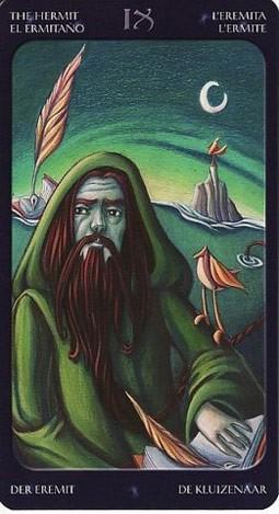 9 Отшельник (The Hermit) Таро Семи Звезд (Mystical Manga Tarot)