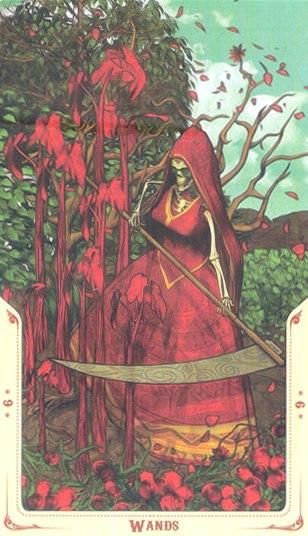 9 Жезлов Таро святой смерти (Santa Muerte Tarot)