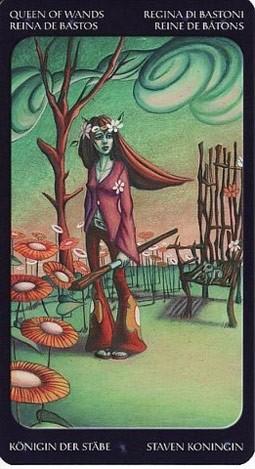 королева Жезлов Таро Сладкие Сумерки (Tarot of the Sweet Twilight)