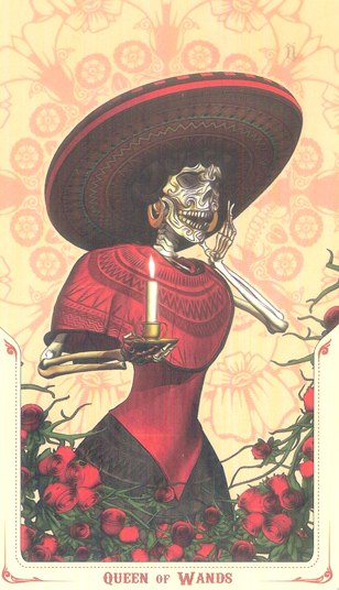 королева Жезлов Таро святой смерти (Santa Muerte Tarot)