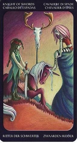 рыцарь Мечей Таро Сладкие Сумерки (Tarot of the Sweet Twilight)