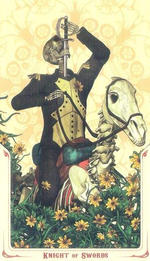 рыцарь Мечей Таро святой смерти (Santa Muerte Tarot)
