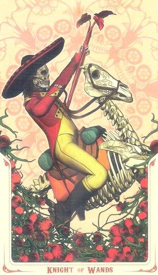 рыцарь Жезлов Таро святой смерти (Santa Muerte Tarot)
