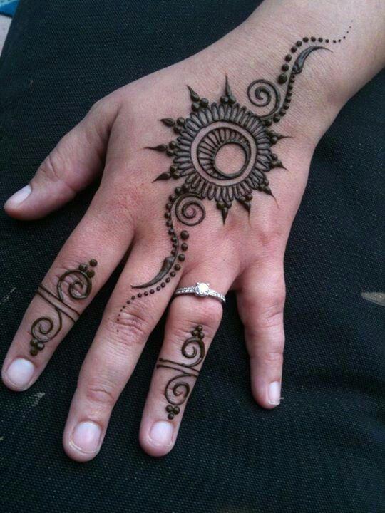 Henna Moon And Star Tattoo