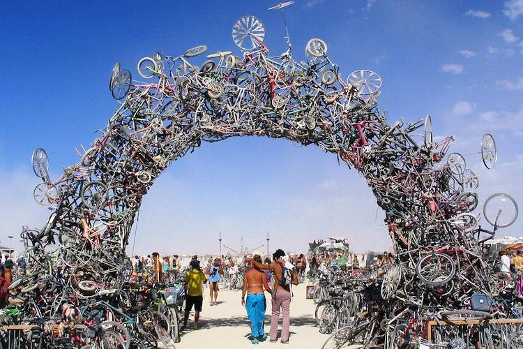 Bike Arch Recycled Art