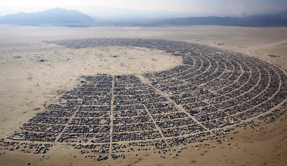 An Aerial Photograph Of Burning Man 2013